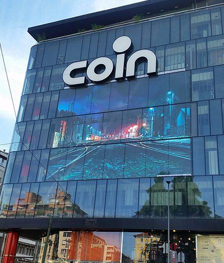 schermo led coin milano